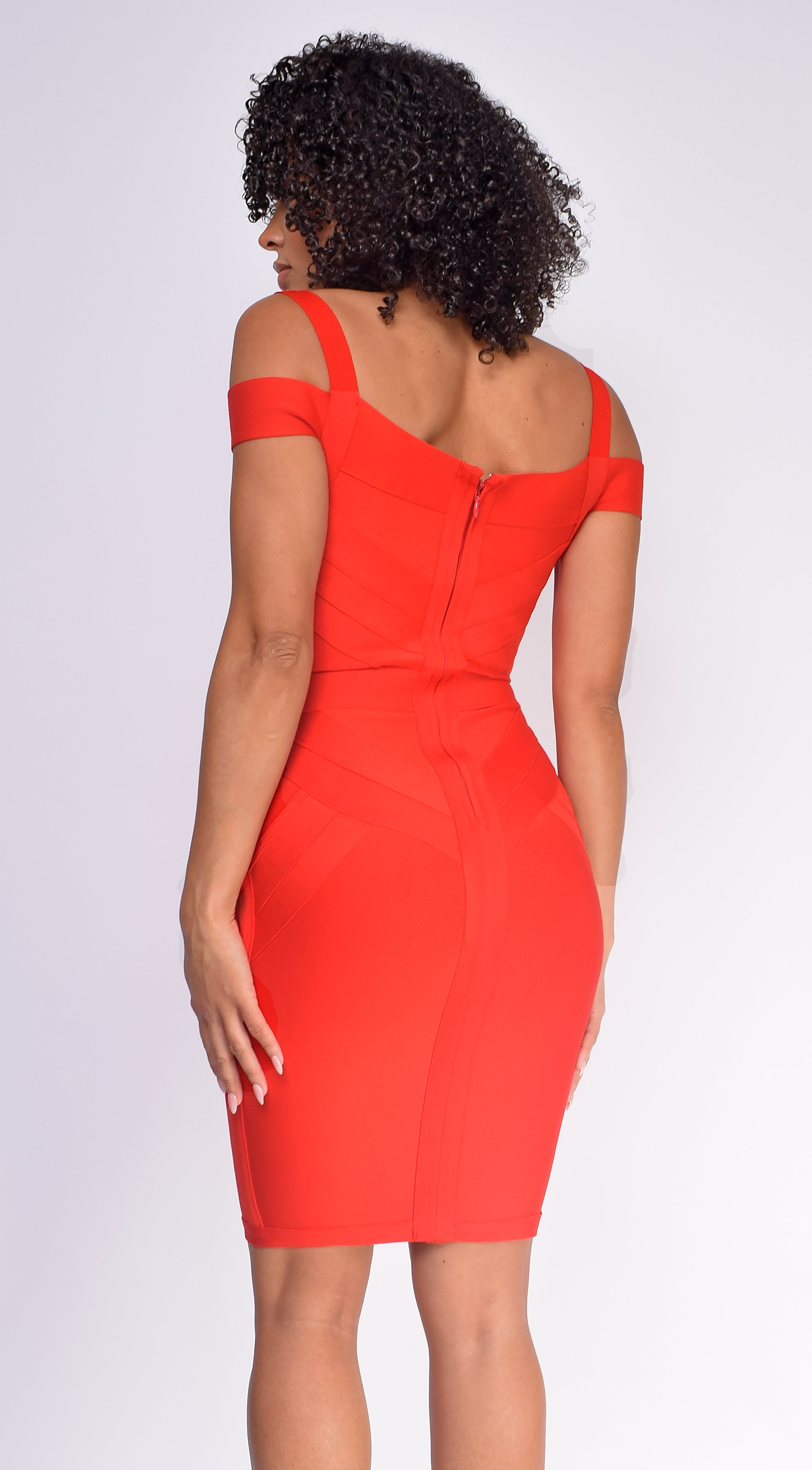 Whitney Red Bandage Dress