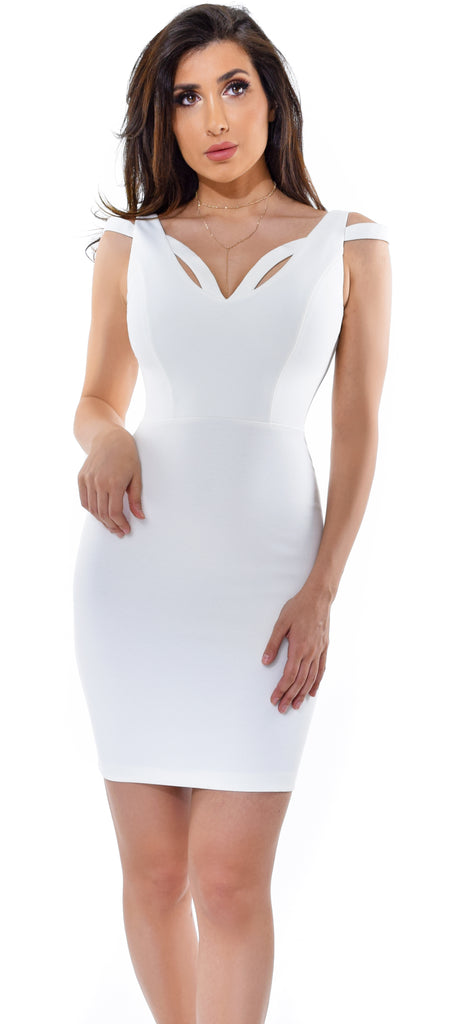 b301094b7b Kalessa White Dress - Emprada