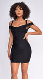 Kiera Black Bandage Dress