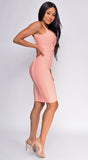 Aries Peach Pink Bandage Dress
