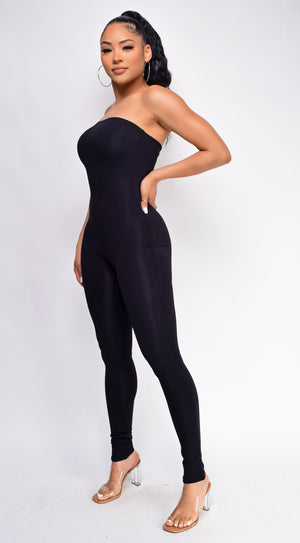 Recharge Black Tube Jumpsuit
