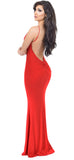 Tristine Red Low Back Maxi Dress - Emprada