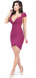 Leya Plum Deep V Dress