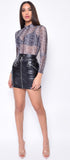 Azalea Black Faux Leather Skirt - Emprada