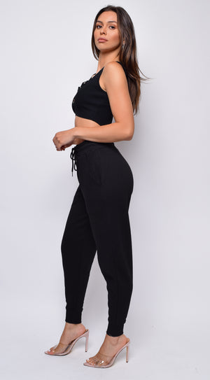 Leisure Black Joggers