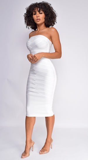 Sylvia White Tube Bandage Dress