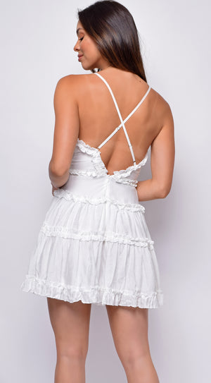 Payson White Ruffle Dress