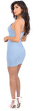 Tayah Baby Blue Mini Dress - Emprada