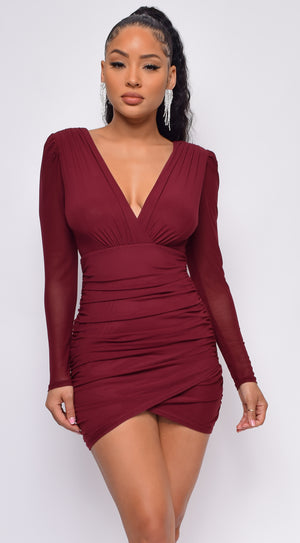 Adaly Ruby Red Wrap Dress