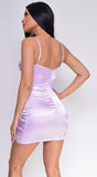 Lyla Lavender Purple Satin Mini Dress