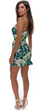 Dita White Floral Ruched Dress - Emprada