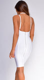 Jasper White Halter Bandage Dress