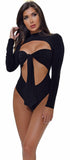 Ziva Black Tie Up Bodysuit