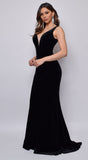 Joella Black Velvet Gown Dress
