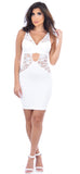 Brie White Lace Dress - Emprada