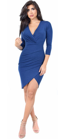 Allie Navy Wrap Dress