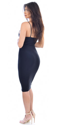 Deanna Black Midi Dress - Emprada
