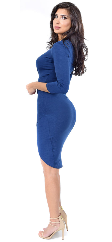 Allie Navy Wrap Dress - Emprada