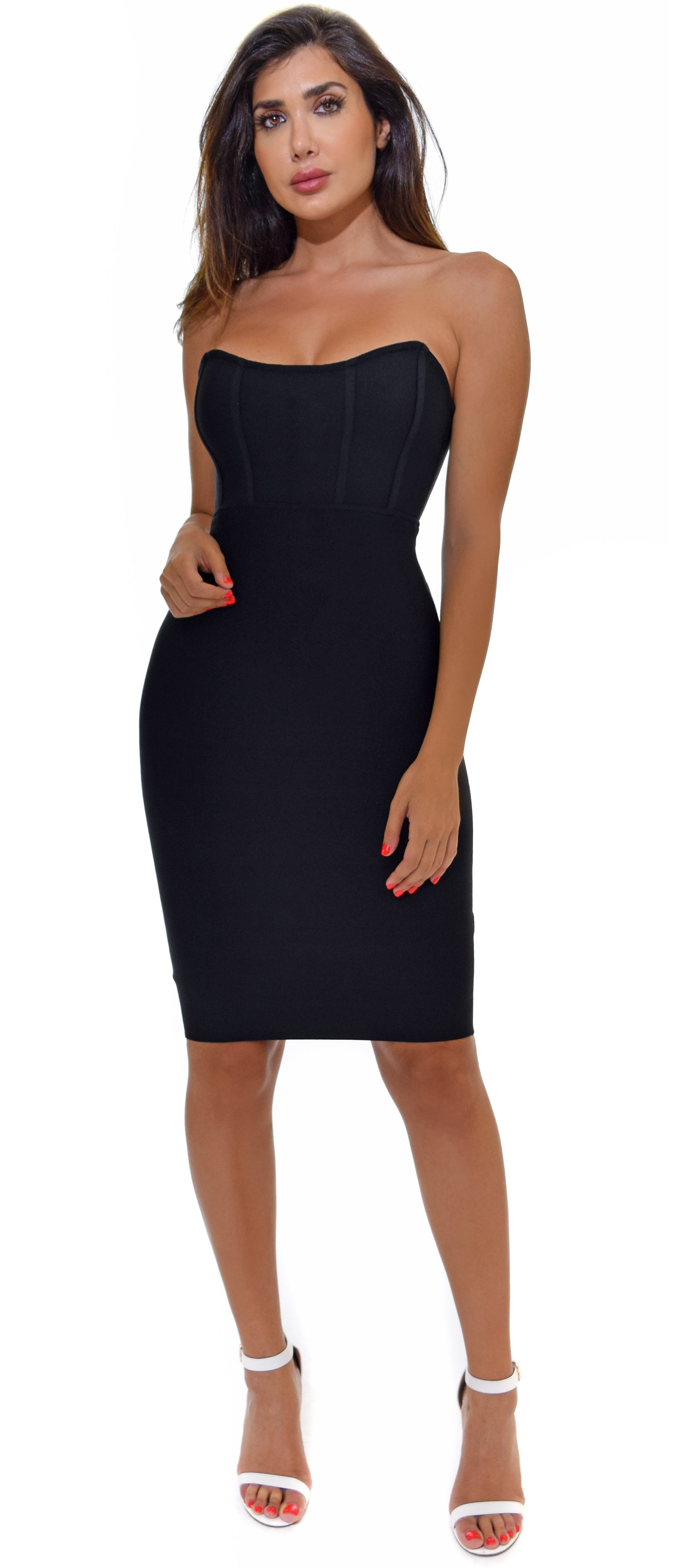 Nahal Black Bandage Dress