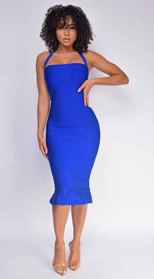 Kayden Royal Blue Mermaid Bandage Dress