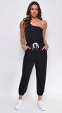 Gimme A Break Off Shoulder Jogger Jumpsuit