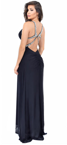 Marie Beaded Black Gown