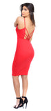 Savanne Red Dress - Emprada