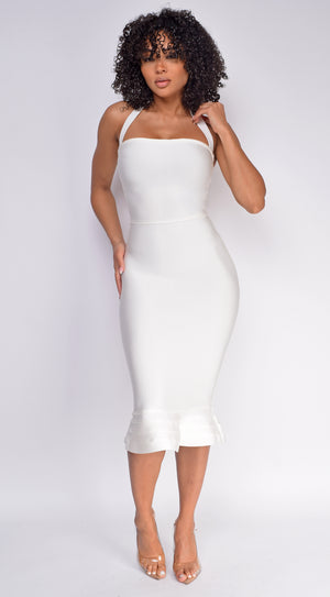 Kayden White Mermaid Bandage Dress