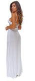 Mallorca White Slit Maxi Dress