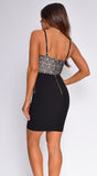 Tayla Black Bustier Lace Dress