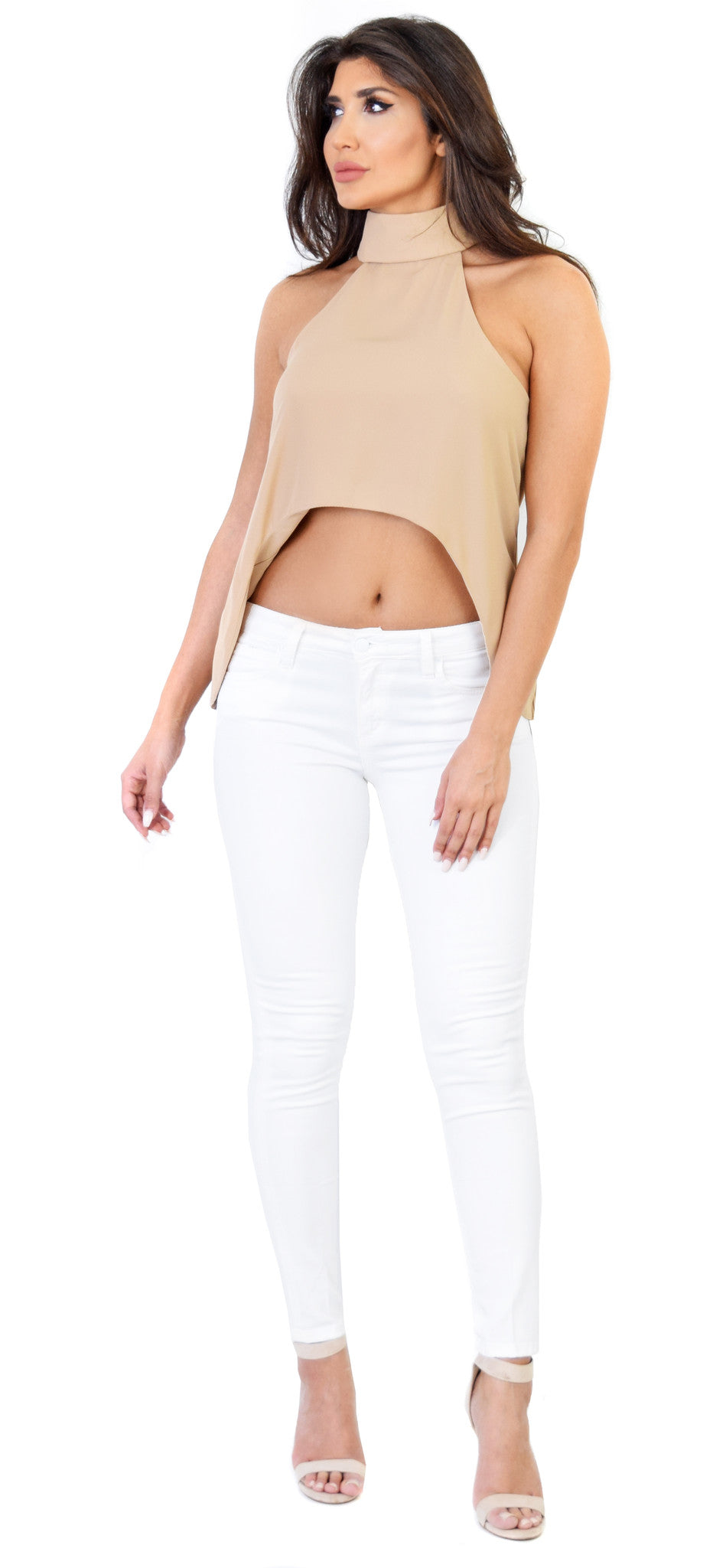 Kali Beige High Low Top - Emprada