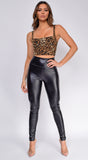 Jagger High Waist PU leather Pants