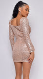 Nila Rose Gold Sequin Dress
