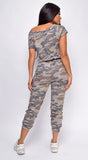 Nydia Brown Camo Jumpsuit