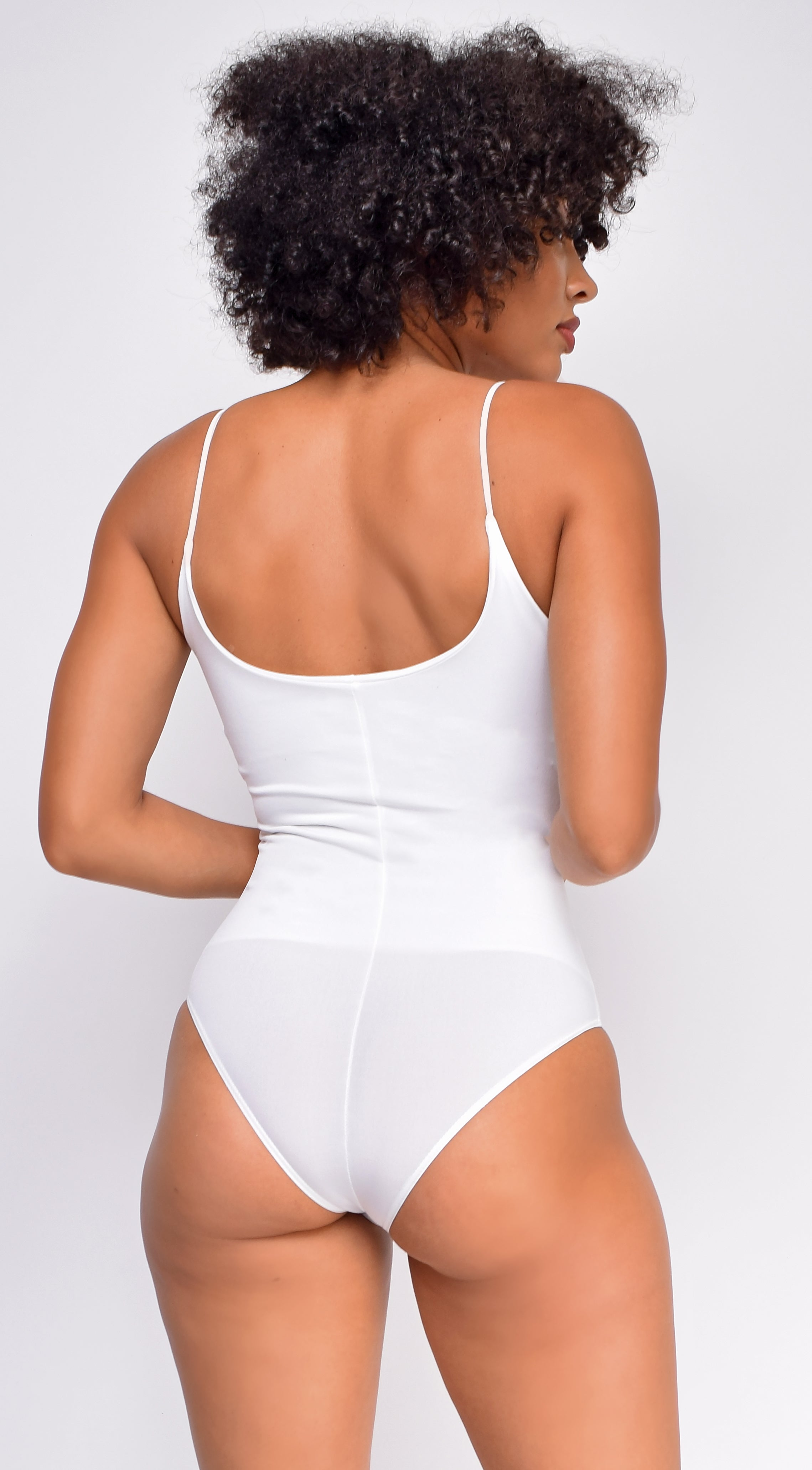 Ela White Basic Bodysuit
