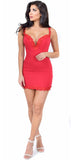 Tamara Red Lace Trim Dress