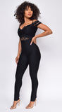 Escalia Black Lace Bandage Jumpsuit