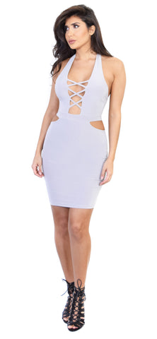 Aitana Silver Grey Dress - Emprada