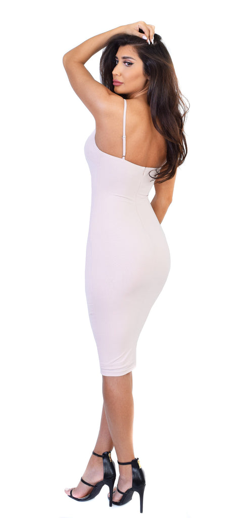 a892333992 Desyre Nude Midi Dress - Emprada. Sale