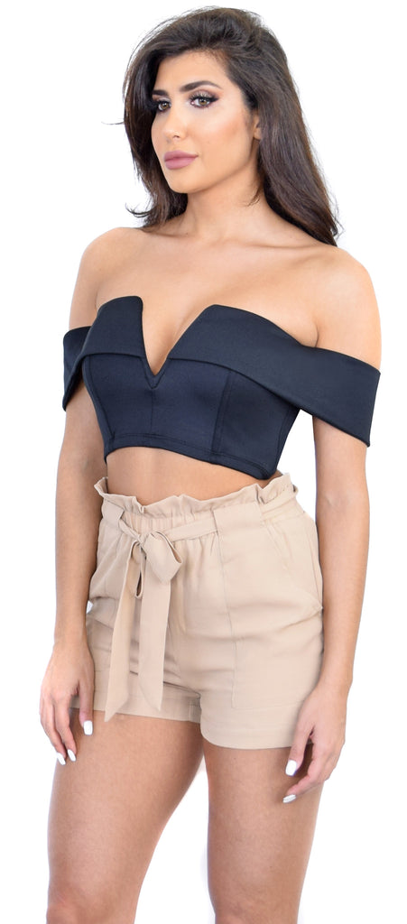 Carmela Black Off Shoulder Top - Emprada