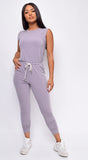 Slipped In Comfort Lavender Purple Jumpsuit