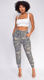 Leisure Camo Green Joggers