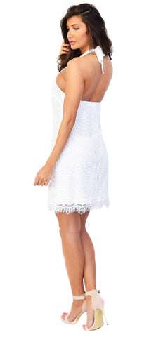 Jeanne Lace Halter Dress - Emprada