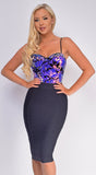 Sabryna Purple Velvet Sequin Bodysuit