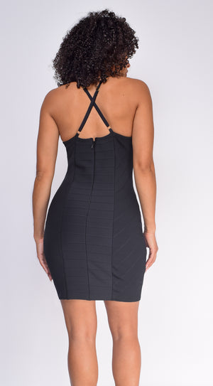 Emalee Black Bandage Dress