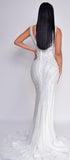 Larraine Off White Beaded Gown