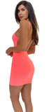 Ankine Neon Pink Open Back Dress - Emprada
