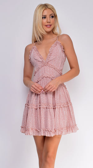 Gili Islands Pink Floral Print Dress