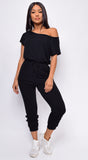 Kendra Black Off Shoulder Jumpsuit