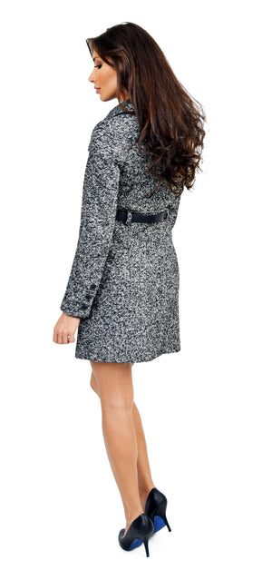 Autry-F4T Classic Black Wool Coat WIth Belt - Emprada